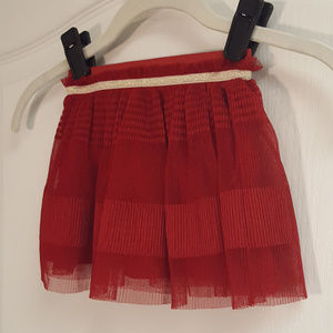 Genuine Kids Red and Gold Skirt
